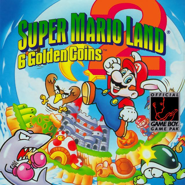 Carátula de Super Mario Land 2: 6 Golden Coins, para Game Boy