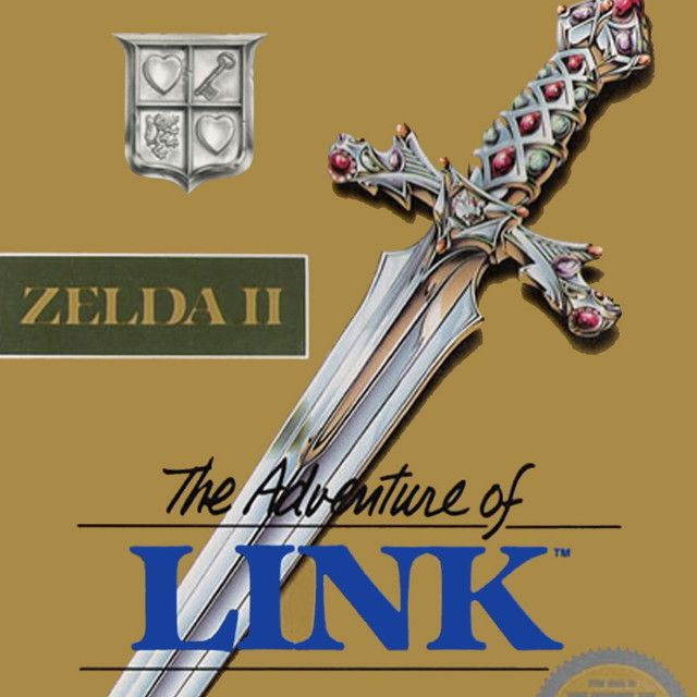 Carátula de Zelda II: The Adventure of Link, para Nintendo NES