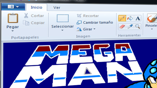 Mega Man en Paint