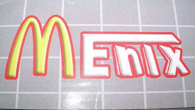 Menix con M de McDonald's