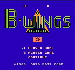 Portada de B-Wings, de Famicom