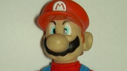 Un peluche de Super Mario