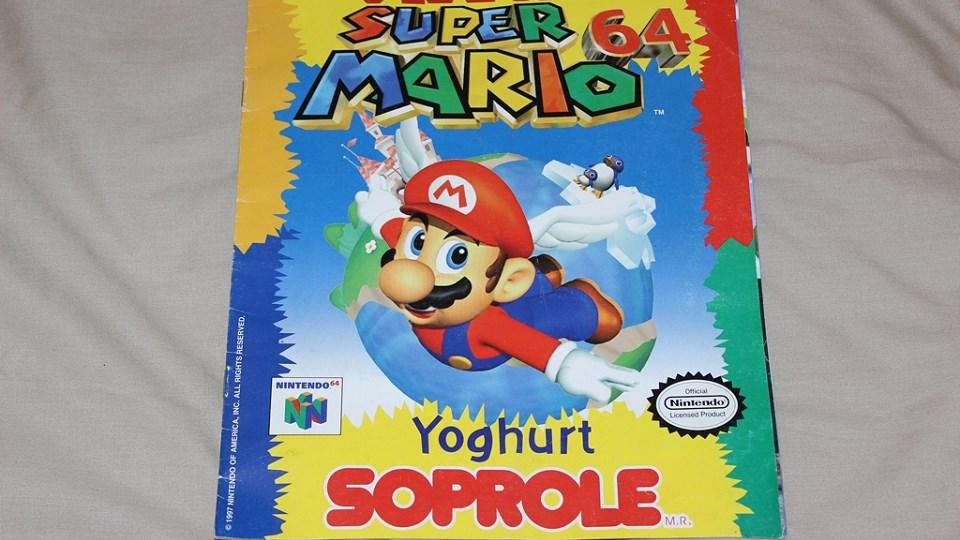 Al fin tengo mi álbum Super Mario 64 de Soprole