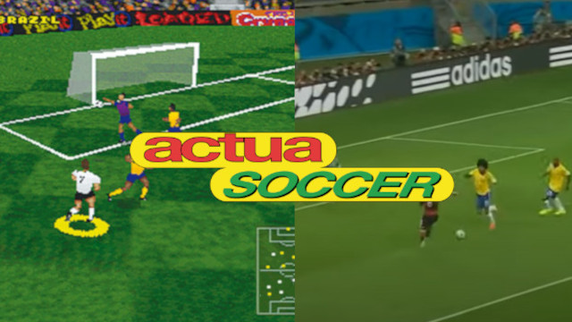 Brasil vs. Alemania pero con comentarios de Actua Soccer